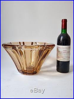 Vase Daum Nancy en cristal fumé ep Art déco 1930