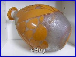 Vase Degue David Gueron Art Deco Cameo Glass