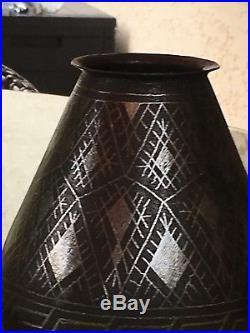 Vase Dinanderie Art Deco DLG DUNAND LINOSSIER LANEL CHRISTOFLE Vase In Dinandy