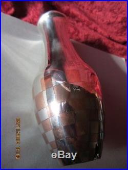 Vase En Dinanderie Art Deco Par Luc Lanel Pour Christofle/metal Argente
