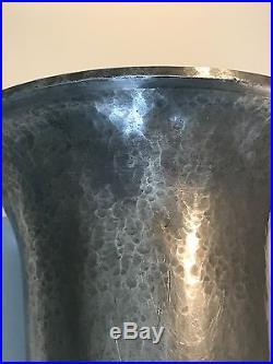 Vase En étain Dinanderie Moderniste Maurice Daurat Art déco Vase Tin Dinanderie