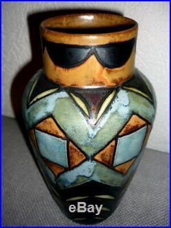 Vase HB Quimper Odetta Art déco début 1920 rare