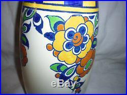 Vase Keramis Charles Catteau Boch Freres décor Art Déco N°D1049 / Ht 31cm