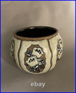 Vase Keramis en grès, décor art deco. Charles Catteau