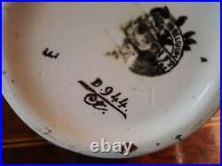 Vase Keramis signe CC pour Charles Catteau décor de fleurs Belgium Art Déco 151A