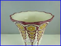 Vase LONGWY ancien ART DECO faïence emaux