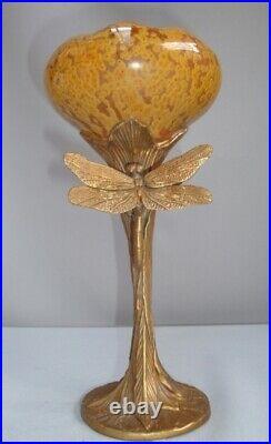 Vase Libellule Animalier Style Art Deco Style Art Nouveau Porcelaine Bronze