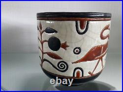 Vase Longwy Art Déco Cache pot Primavera