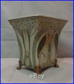 Vase Marabout Oiseau Style Art Deco Style Art Nouveau Porcelaine Bronze