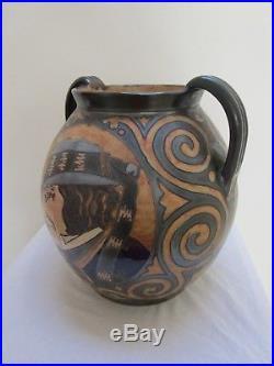 Vase Odetta Art Deco Decor Au Breton Fouillen Faience De Quimper N°347
