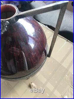 Vase Ovoide En Ceramique Boch La Louviere Art Deco 1930