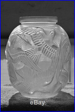 Vase Pierre D'Avesn Art Déco style Daum Lalique Muller Verlys Sabino
