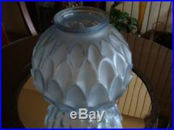 Vase Pierre d'Avesn modèle Artichaut bleu Art déco