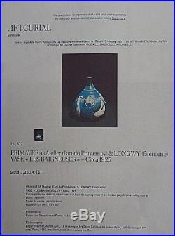 Vase / Primavera / Longwy / Art Deco