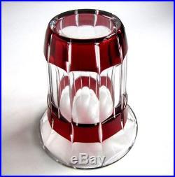 Vase Rouge Rubis Art Déco en Cristal Signé Baccarat