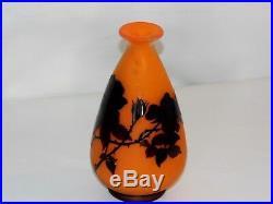 Vase Signé A Delatte Nancy Magnifique 1920 /1930 Art-deco Dégagé A L'acide