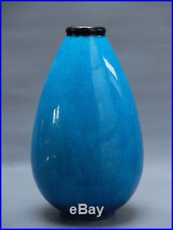 Vase Signe E. Lenoble Art Deco 1930 Cf Decoeur Besnard Primavera Adnet