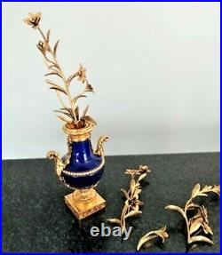 Vase Tres Rare D'origine En Bronze Et Porcelaine Colbat Marie Antoinette Signe