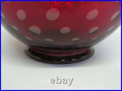 Vase VENINI verre rubis art déco design NAPOLEONE MARTINUZZI MURANO XXe
