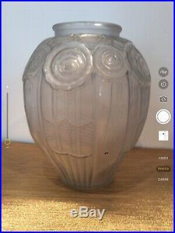 Vase Verre Art Deco HUNEBELLE