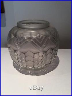 Vase Verre Art Deco Signe Hunebelle Modele Grappe