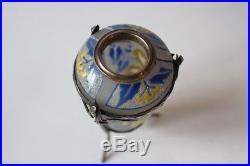 Vase amphore verre émaillé Art déco D'ARGYL (28516)