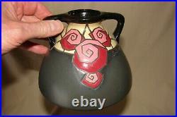 Vase ancien Art Déco 1930 signé Montières Amiens France