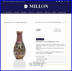 Vase art déco Marguerite de Saint Germain Bordeaux Buthaud Cazaux Decoeur
