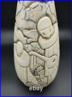 Vase art déco Mougin Nancy et Legrand Pierrots