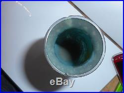 Vase art déco deveau représentant marais oiseau representative marsh bird ++