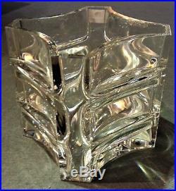 Vase art déco en cristal signé Baccarat