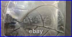 Vase art déco feuilles mortes André Hunebelle patiné gris
