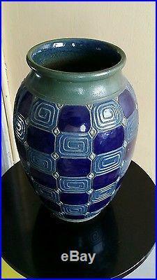 Vase art nouveau art déco 1900 1930 céramique grès Nancy Mougin