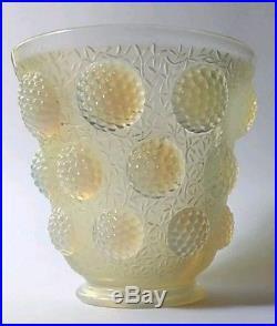 Vase aux cabochons art déco verlys