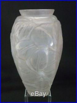 Vase aux perruches signée arvers -André Delatte art déco