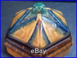 Vase bonbonnière d'argyl signé Lardiller papillon dlg amalric walter art deco