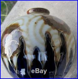 Vase boule CAMILLE THARAUD art déco