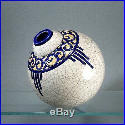 Vase boule LONGWY 1920-1930 ART DECO craquelé