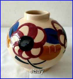 Vase boule de Simone LARRIEU Grès du Sud-Ouest de la France en parfait état