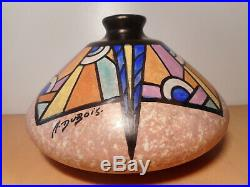 Vase céramique faience art déco céramiste belge Antoine DUBOIS Mons Belgique 2