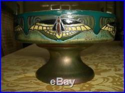 Vase coupelle Art Déco signé Montieres