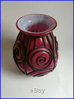 Vase daum majorelle. Vase art deco