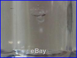 Vase émaillé octogonal en verre pensées fond violine montjoie