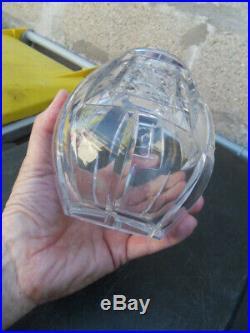 Vase en cristal BACCARAT signé Auguste Houillon taillé au burin art deco