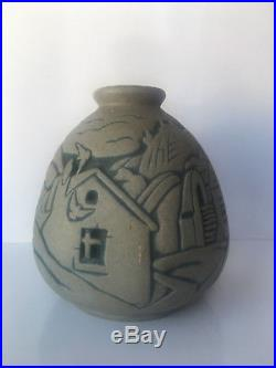 Vase en grès ART DECO MOUGIN NANCY par LEGRAND