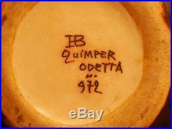 Vase en grès de Quimper Odetta art déco hauteur 13cm forme 972