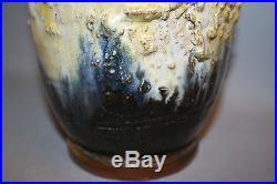 Vase en grès style Art Déco signé Guérin