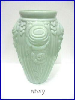 Vase en opaline verte Art Déco