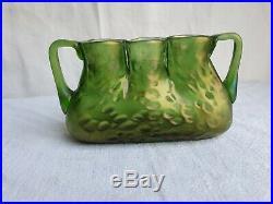 Vase en pate de verre art déco Loetz gallé muller legras glass paste vase