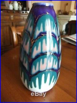 Vase en porcelaine de Limoges signé Camille Tharaud, d'inspiration art déco